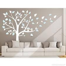 arbre chambre bébé bdecoll stickers muraux grand arbre mignonne hiboux stickers chambre