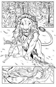 chronicles narnia lucy love aslan coloring free