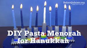 diy pasta menorah for hanukkah youtube