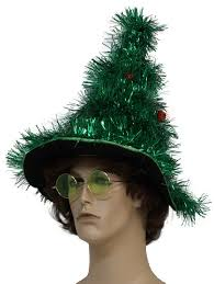 ugly christmas tree tinsel hat green tinsel garland christmas