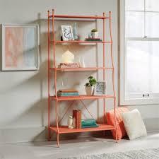 sauder 5 shelf bookcase sauder eden rue 5 shelf bookcase in coral