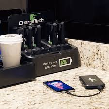 portable battery pack dock charging station