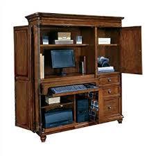 Computer Desk Armoire Oak Amazon Com Dmi Antigua Wood Computer Armoire In Cherry Kitchen