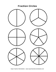 6 best images of fraction template printable fraction circles