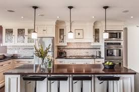 Pendant Light Kitchen Kitchen Dazzling Pendant Lights Above A White Kitchen Island