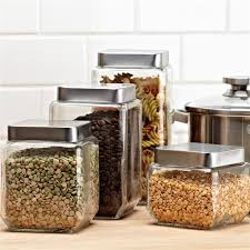 stainless steel canister sets kitchen glass canister sets for kitchen adorable glass kitchen canisters