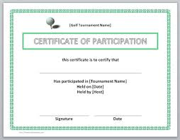 Participation Certificate Templates Free Download 13 Free Certificate Templates For Word Microsoft And Open Office