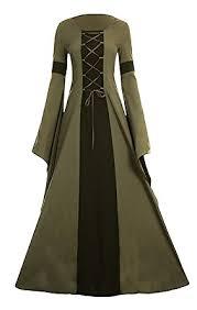 amazon com meilidress women medieval dress lace up vintage floor
