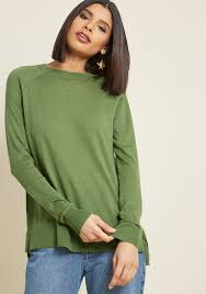 sweater in charter pullover sweater in emerald modcloth