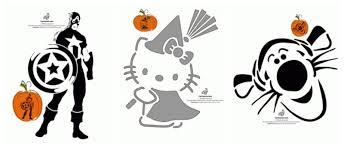 free printable pumpkin stencils avengers hello kitty disney