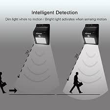Dusk To Dawn Motion Sensor Outdoor Lighting Solar Powered Light Mpow Solar Powerd Wireless 4 Led Security