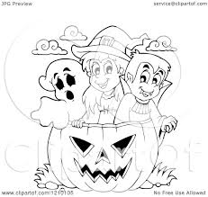 black and white halloween pumpkin clipart cartoon of a black and white halloween witch boy vampire and