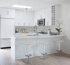condo kitchen ideas contemporary with white polished mosaic tiles