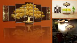 Canvas Painting For Home Decoration by 2017 Framed Canvas Painting 100 Hand Made Golden Tree Oil
