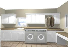 Laundry Room Cabinets With Hanging Rod Room With Hanging Rod And Raised Counter