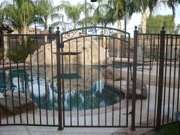 exterior design stylish rod iron fence for garden and landscape