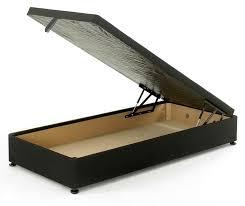 3ft single ottoman storage divan bed base black damask fabric with