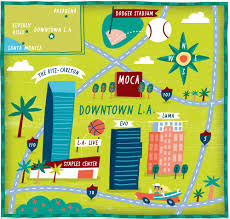 Maps Los Angeles by I Draw Maps Los Angeles Map For The Wall Street Journal