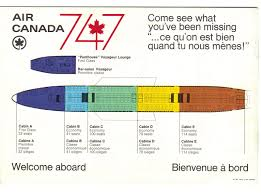 757 Seat Map Airlines Past U0026 Present Air Canada Boeing 747 Introduction Early