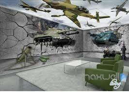wallpaper for entire wall 3d tank broken wall entire room wallpaper wall mural decal idcqw