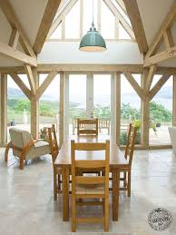hand build architectural wood framework model house curved timber frame oak house with shard roof light bespoke