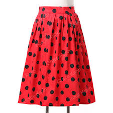 cotton skirts fashion women vintage skirt rockabilly pinup 50s 60s cotton skirt