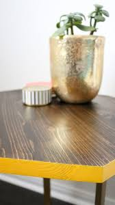 Yellow Side Table Diy Wood Gold Geometric Accent Table Tutorial Best Friends For