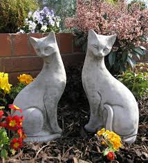pair of siamese cats garden ornaments 40 84 garden4less uk shop