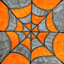teachkidsart symmetry colorful spiderwebs art pinterest