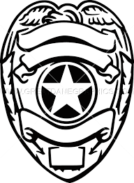silver police badge production ready artwork for t shirt printing