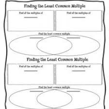 least common multiples worksheets worksheets