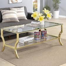 coffee table frame glass gold frame coffee table