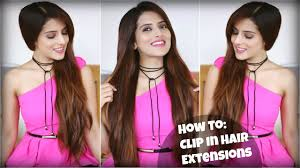 how to easily clip on long hair extensions for volume and length