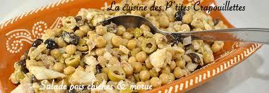 cuisine portugaise morue salade morue pois chiches façon portugaise la cuisine des p