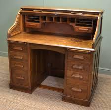 Roll Top Antique Desk Quality Oak Edwardian Tambour Front Roll Top Antique Desk C