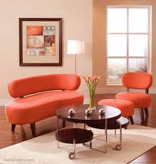 Orange Living Room Set Contemporary Living Room Furniture Orange Contemporary Living