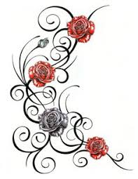 roses with tribal design by jsharts deviantart com on