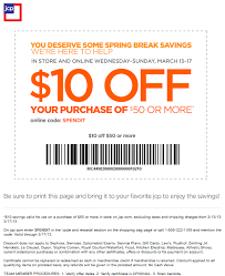 10 off 50 at jcp or online via promo code spendit coupon via