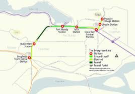 vancouver skytrain map skytrain evergreen line route map vancity buzz
