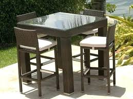 outdoor bar height table and chairs waynetrain info
