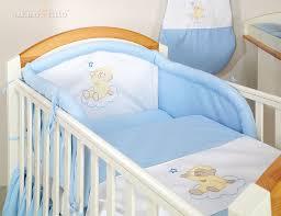 pas de chambre pour bébé parure de lit bébé brodée ensemble 3 pièces ours nuage bleu i