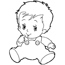 Baby Boy Coloring Pages Cute Coloring Boy Color Pages