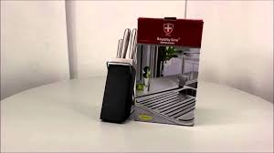 royalty line 5pcs knife set stainless steel with stand rl kss500