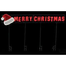 Outdoor Christmas Decorations Home Depot Led Message Merry Christmas Santa Hat 7407406uho The Home Depot