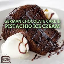 dr oz birthday german chocolate cake recipe u0026 pistachio ice cream