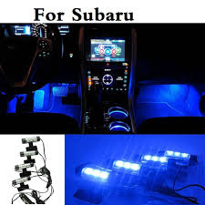 subaru exiga interior car styling interior led atmosphere lamp decorative blue light for