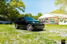 dark green range rover range rover savini wheels