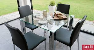Square Glass Dining Table Dining Room Alba Small Black Glass Chrome Dining Table Small 2