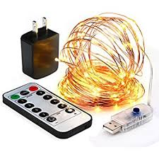 led fairy lights with timer amazon com innotree fairy lights usb plug in with timer remote