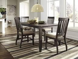 Interior Design Uph Dresbar Grayish Brown Rectangular Dining Room Table U0026 4 Uph